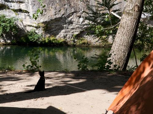 emplacement bord de riviere camping la blaquiere gorges du tarn