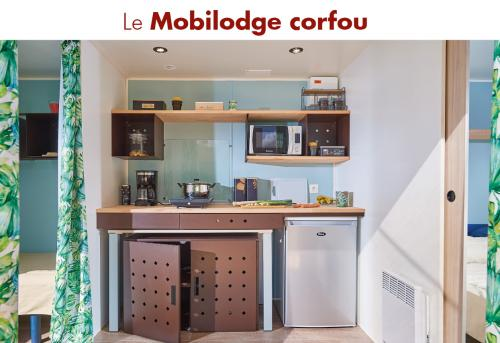 mobilodge corfou camping la blaquiere kitchenette