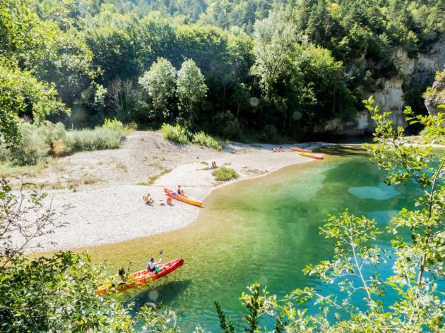 canoe plage champignon camping blaquiere gorges du tarn